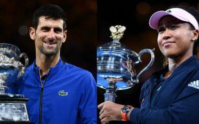 Djokovic y Osaka campeones del Open Australia