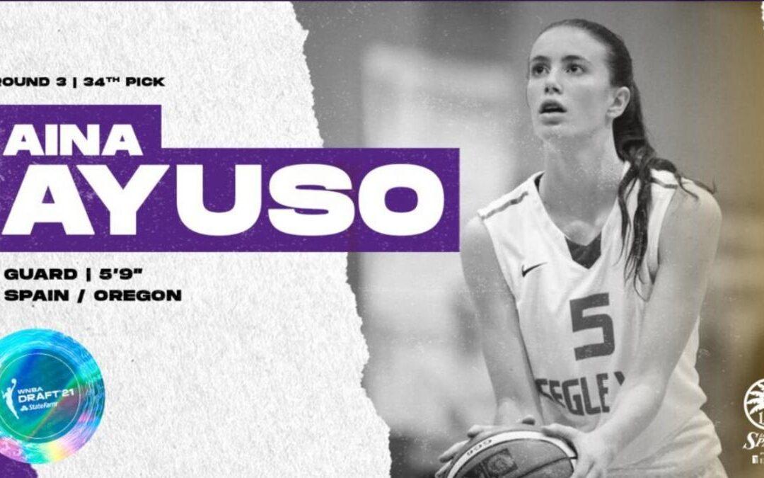 Aina Ayuso, seleccionada en el draft de la WNBA 2021