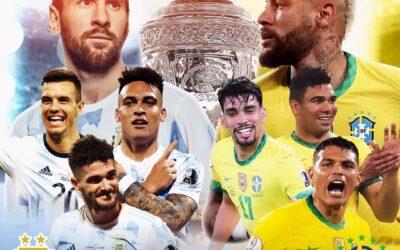 Brasil-Argentina: clásico sudamericano para la final de la Copa América 2021