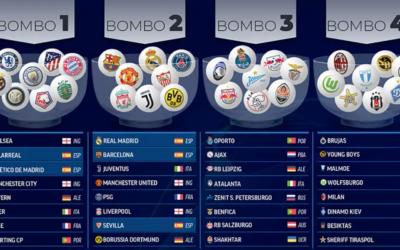 Así quedan los bombos para el sorteo de la Champions League 2021-22