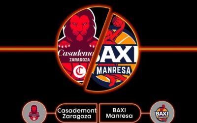 El Basket Zaragoza debutará en casa ante el BAXI Manresa