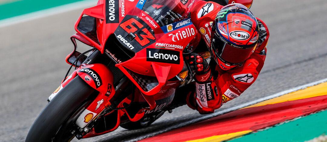 Bagnaia gana en Motorland Aragón y logra su primera victoria en MotoGP